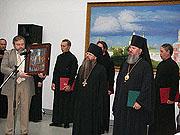 Посольство Франции подарило Даниловскому монастырю икону св. мученика Рустика Парижского в честь 25-летия возрождения обители