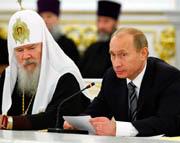 Выступление Президента России на встрече с участниками торжеств, посвященных 90-летию восстановления Патриаршества в Русской Церкви