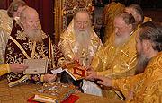 Святейший Патриарх совершил в храме Христа Спасителя Божественную литургию и хиротонию архимандрита Елисея (Ганабы) во епископа Богородского