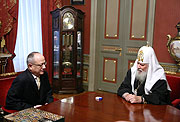 Святейший Патриарх Алексий встретился с новоназначенным Послом Турции в РФ Халилем Акынджи