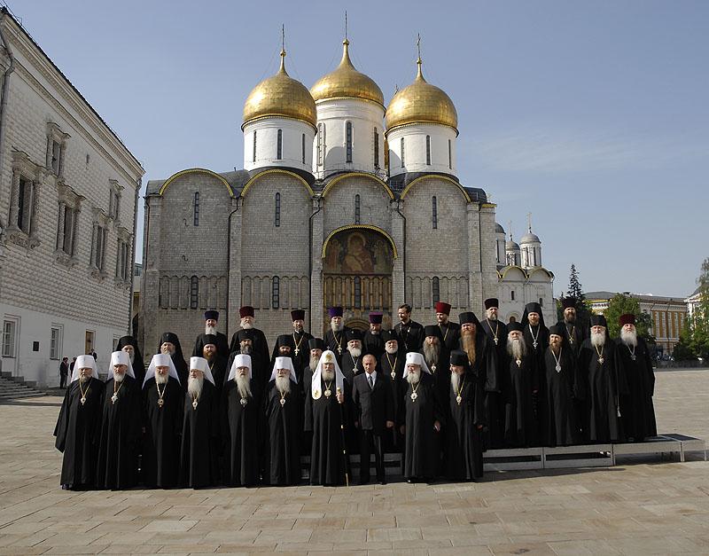 19 мая 2007 г., Москва. Торжественный прием в Кремле по случаю воссоединения Русской Православной Церкви