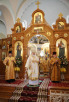 Патриарший визит в Санкт-Петербург. Богослужение в главном храме Иоанновского монастыря на Карповке.