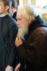 Патриарший визит в Нижегородскую епархию. День второй. Божественная литургия в Преображенском соборе Серафимо-Дивеевского монастыря.