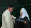 Награждение главы г. Геленджик С.П. Озерова орденом прп. Сергия Радонежского III степени