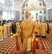 В день обретения мощей свт. Димитрия Ростовского Святейший Патриарх Кирилл совершил Божественную литургию в Спасо-Яковлевском монастыре Ростова Великого