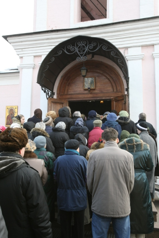 Патриаршее богослужение в храме Троицы Живоначальной в Хорошеве