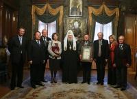 Святейший Патриарх Алексий вручил церковные награды членам и партнерам Фонда единства православных народов