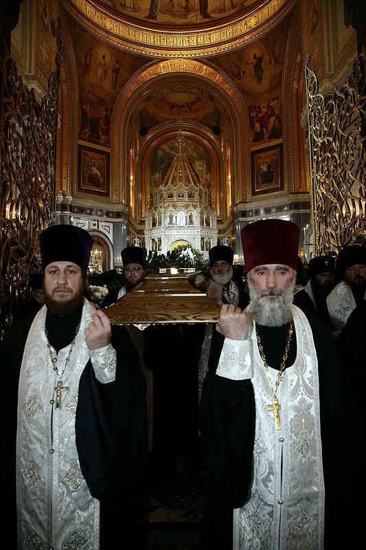 Отпевание Святейшего Патриарха Алексия в Храме Христа Спасителя
