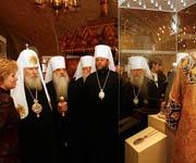 Святейший Патриарх Алексий посетил выставку 'Собор Русских Патриархов' в Мироваренной палате Московского Кремля