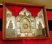 Президент России передал Святейшему Патриарху Алексию фрагмент Ризы Господней, находившийся в собрании музеев Кремля