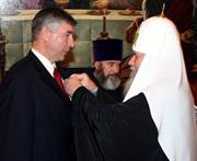 Святейший Патриарх Алексий вручил церковные награды руководителям Росохранкультуры