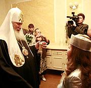 Интервью Святейшего Патриарха Алексия на детском Рождественском празднике в Кремле