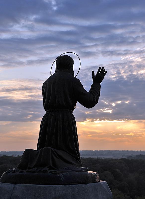 Патриарший визит в Курскую епархию. День второй. Божественная литургия в Курской Коренной пустыни.