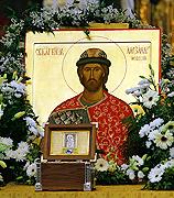 В Храме Христа Спасителя состоялась торжественная встреча мощей благоверного князя Александра Невского