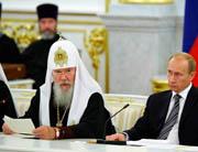 Слово Святейшего Патриарха Алексия на торжественном президентском приеме по случаю 90-летия восстановления Патриаршества в Русской Церкви