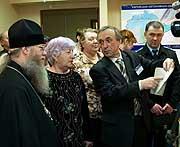 Епископ Биробиджанский Иосиф принял участие в открытии выставки в Музее истории пенсий в Биробиджане