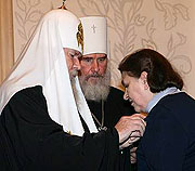 Предстоятель Русской Церкви вручил церковные награды сотрудникам и авторам 'Православной энциклопедии'