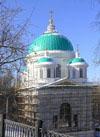 В храме св. Иоанна Предтечи в Сарове завершается роспись внутренних сводов