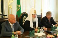 Святейший Патриарх Кирилл возглавил заседание Попечительского совета Фонда поддержки строительства храма вмц. Екатерины в Риме