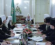 ЖУРНАЛЫ заседания Священного Синода от 10 октября 2009 года