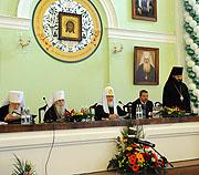 Предстоятель Русской Церкви возглавил Юбилейный акт, посвященный 200-летию Санкт-Петербургской духовной академии и 30-летию Регентского отделения