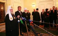 Святейший Патриарх Алексий и президент Украины Виктор Ющенко обсудили планы празднования 1020-летия Крещения Руси