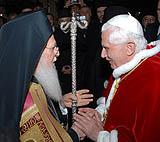Папа Бенедикт XVI призвал к дальнейшему развитию православно-католического диалога