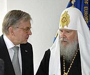 Святейший Патриарх Алексий встретился в Страсбурге с председателем ПАСЕ