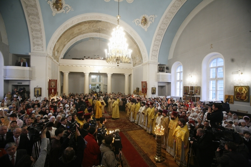 Архиерейское богослужение в день памяти святой мученицы Татианы
