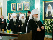 В Свято-Даниловом монастыре открылось очередное заседание Священного Синода Русской Православной Церкви